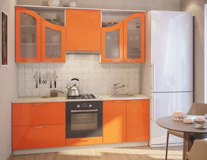 Кухня Фантазия (оранжевый глянец)