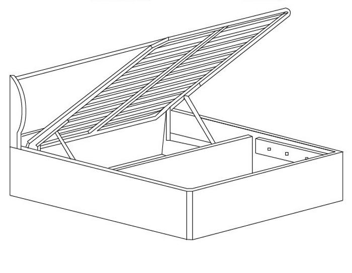 Кровать с подъемным механизмом Кэт