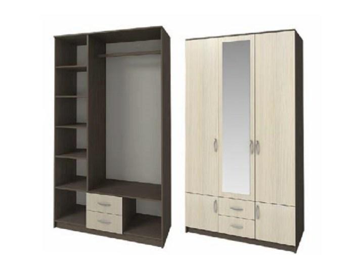Шкаф 3-х дверный ШК-3 с зеркалом
