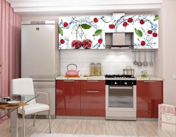 Кухня София 2,1 с фотопечатью