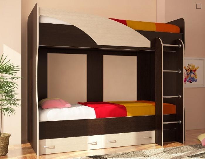 Детская кровать 2-х ярусная Мийа