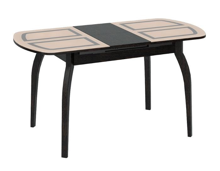 Стол раскладной стеклянный Милан деревянные ножки