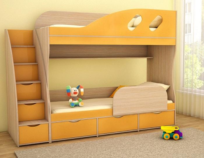 Кровать двухъярусная Детка
