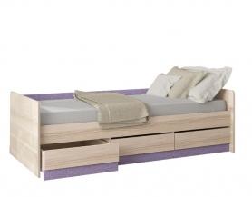 Кровать Индиго с 3-мя ящиками 145.15