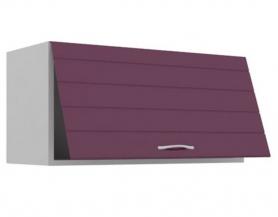 Корпус Серый,фасад Ежевика с прямой фрезой