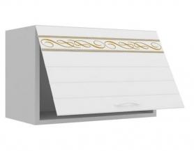 Корпус Серый,фасад Белый с прямой фрезой и ресунком