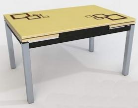 Стол раскладной стеклянный Даласи квадро