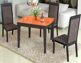 Стол раскладной стеклянный Танго Т1 оранжевый