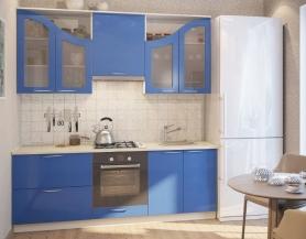 Кухня Фантазия (синий глянец)