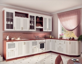 Кухня Кантри (белая)