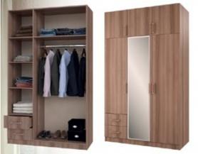 Шкаф 3-х дверный с антресолью