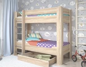 Детская кровать двухъярусная Мийа 4