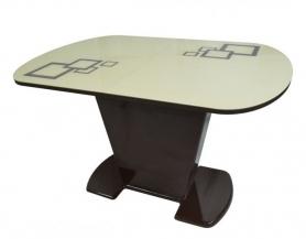 Стол раскладной стеклянный Леоне квадро