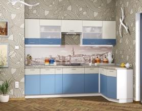 Модульная кухня Жанна голубой металл