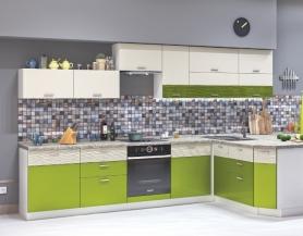 Модульная кухня Жанна металлик олива