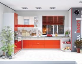 Модульная кухня Жанна морковный металлик